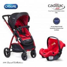 Casual Cadillac Air Trona Travel Sistem Bebek Arabası 2021 Model Kırmızı