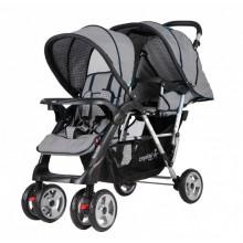 Crystal Baby 234 Armoni İkiz Bebek Arabası Gri