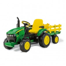 John Deere Ground Force With Trailer 12 Volt Akülü Traktör