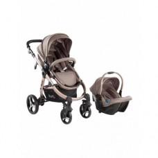 Kraft Ace Travel Sistem Bebek Arabası Kahverengi