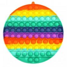 Push Bubble Gökkuşağı Renkli Büyük Boy Baloncuk Patlatma Oyunu 20 cm