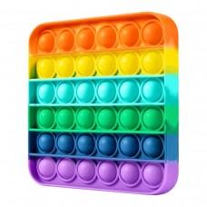 Push Bubble Gökkuşağı Renkli Kare Baloncuk Patlatma Oyunu