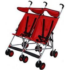 Aldeba İkiz Baston Bebek Arabası Kırmızı