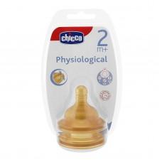 Chicco %0 BPA Fizyolojik Biberon Emziği Kauçuk 2m+