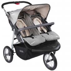 Kraft Wow İkiz Jogger Bebek Arabası Gri